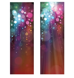Lights banners vector