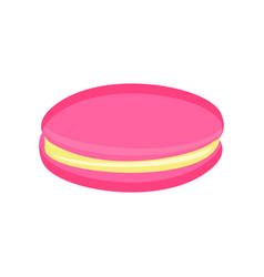 Macaroon cookie color vector
