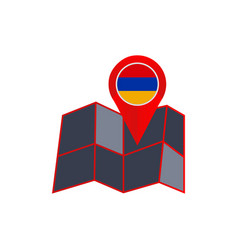 Map pins armenia are isolated with state flags vector