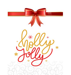 merry christmas and happy new year gift cards vector image
