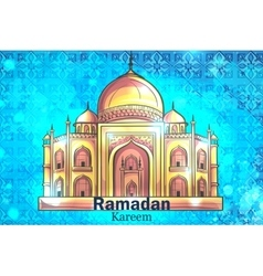 Mosque Ramadan Kareem background vector image