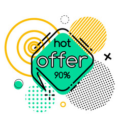 Offer 90 percent off final sale geometric shapes vector