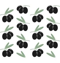 Olives pattern vector
