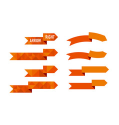 orange polygon arrow set vector image