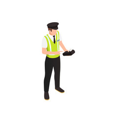 Parking staff icon vector