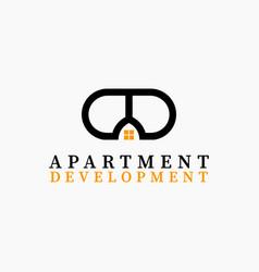 real estate initial letter a d logo design vector image