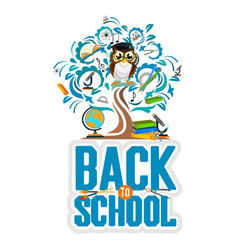 School background with owl vector