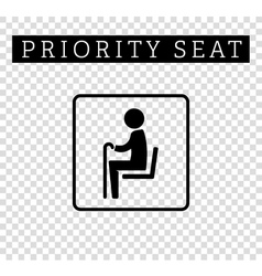 Seniors or old man sign priority seating vector