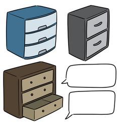 Set drawer vector