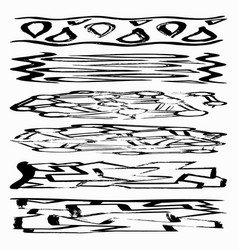 set grunge brush strokes quality for your vector image