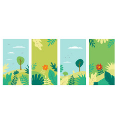 spring background landscape vector image