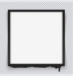 square black frame on a transparent background vector image