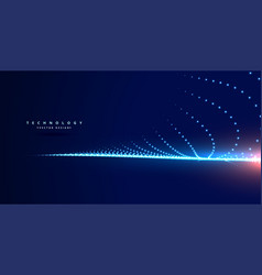 Stylish technology blue background with particles vector