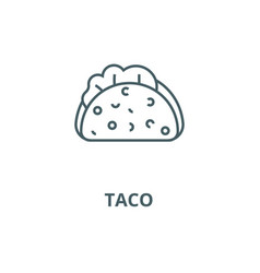 taco line icon linear concept outline vector image