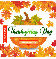 thanksgiving day 17 vector image