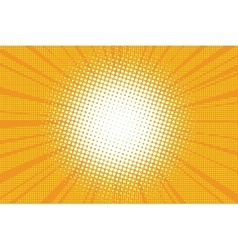 The sun comic book retro pop art background vector