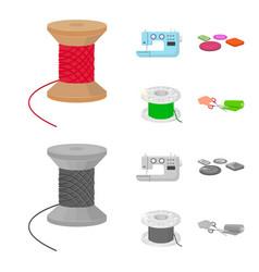 thread reel sewing machine bobbin pugwitz and vector image