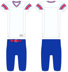 Throwback american football jersey and pant vector
