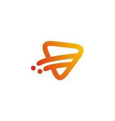Triangle play line logo vector