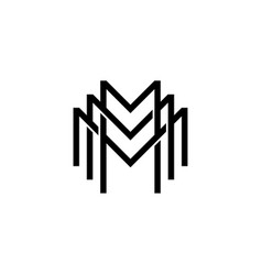 Triple m monogram mmm letter hipster lettermark vector