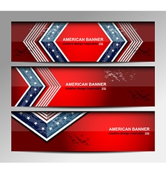 USA Banners Template vector image