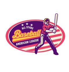 vintage style baseball design vector image