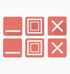 web buttons set in flat style with and without vector image