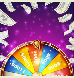 wheel of fortune banner win fortune vector image