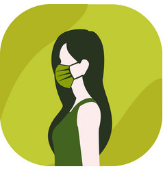 Woman wearing face maskflat designsymbol of vector