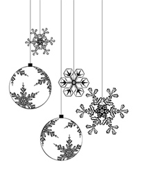 Christmas background elements for designers vector image vector image