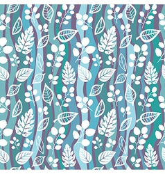 Decorative seamless pattern with leaf and wave vector image