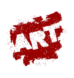 art lettering logo in grunge style spray and vector image