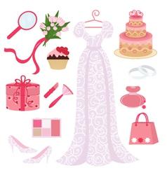 Bridal shower set vector