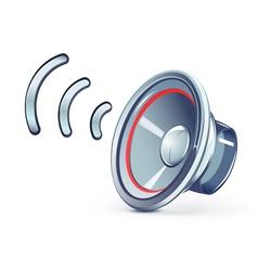 speaker icon vector image vector image
