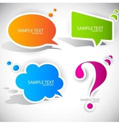 speech bubble elements vector image