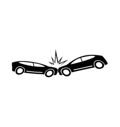 car crash icon vector image