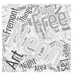 Free Things to do in Las Vegas Word Cloud Concept vector image vector image