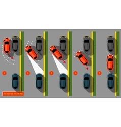 Reverse Parking 02 C vector image vector image