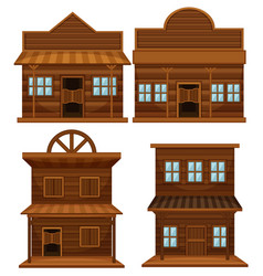 western style of buildings vector image
