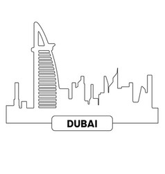cityscape of dubai vector image vector image