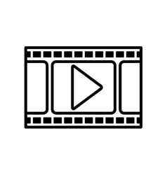 Isolated movie and filmstrip design vector image