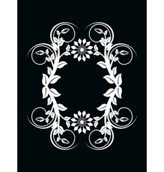 number zero made with floral ornament on black bac vector image