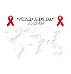 world aids day World map vector image