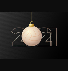 2021 happy new year flat style sports greeting vector