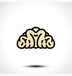 abstract brain logo vector image