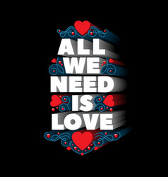 All we need is love vector