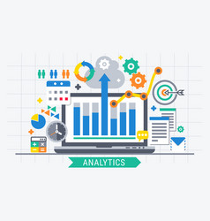 analytics search information vector image