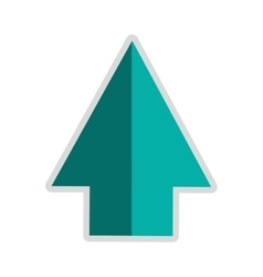 arrow pointing up icon vector image