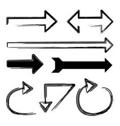 arrows big black set icons arrow icon vector image