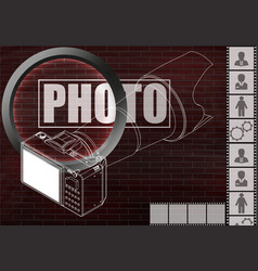 Camera and photographic film vector